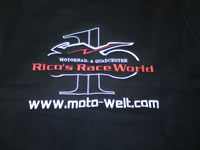 Bestickung Rico's Race World